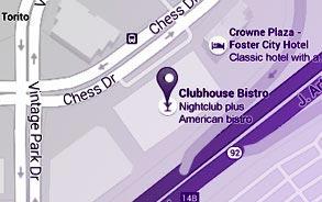 Foster City, California Restaurant Location Map
