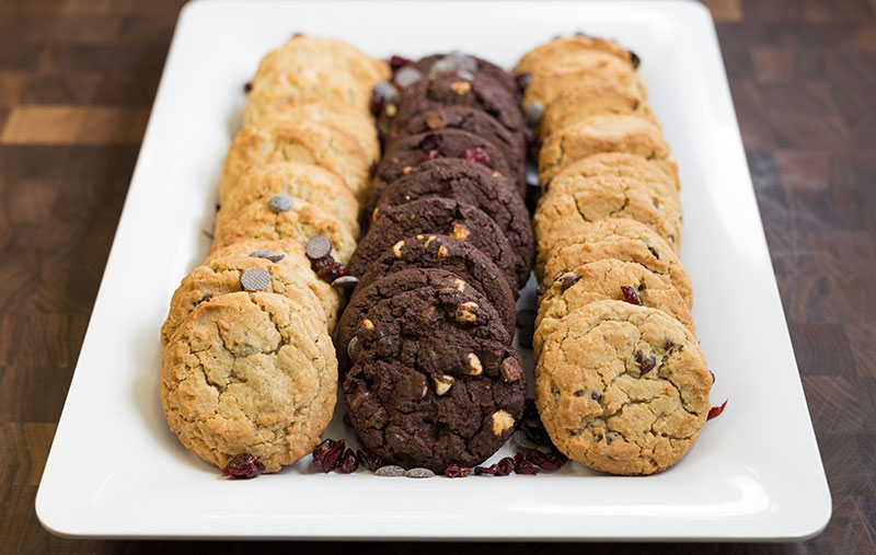 assorted freshly baked cookies