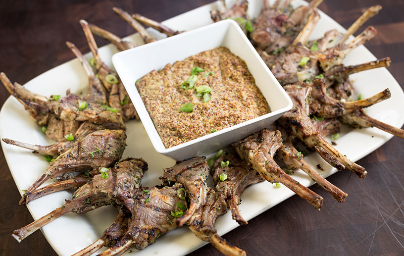lamb chop lollipops platter
