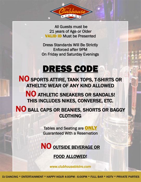 Bistro Dress Code